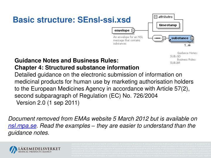 Basic structure: SEnsl-ssi.xsd
