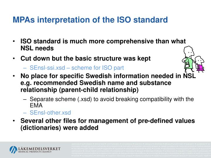 MPAs interpretation of the ISO standard