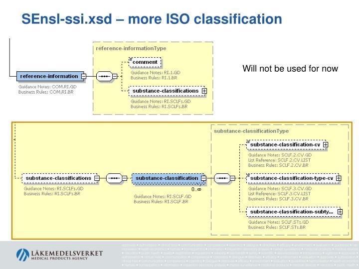 SEnsl-ssi.xsd – more ISO classification