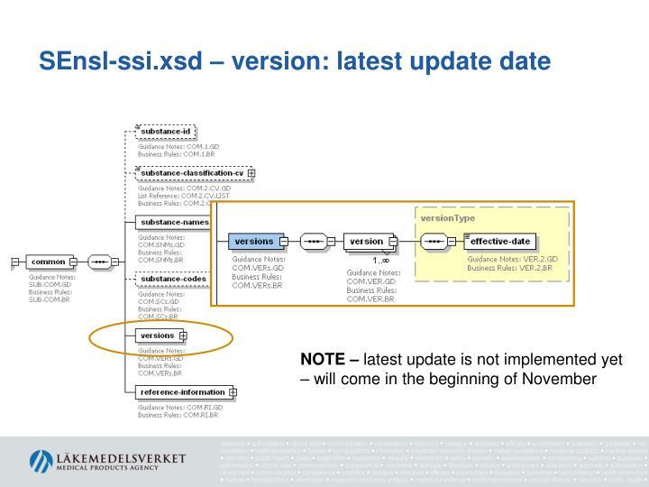 SEnsl-ssi.xsd – version: latest update date