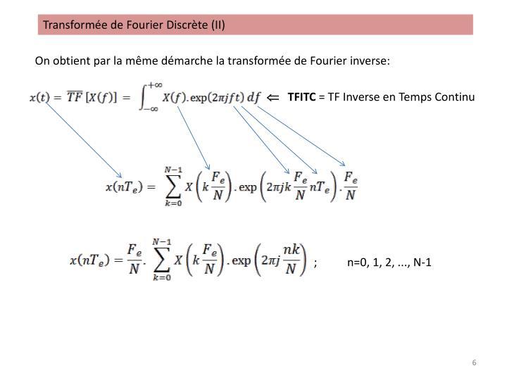 Transformée de Fourier Discrète (II)
