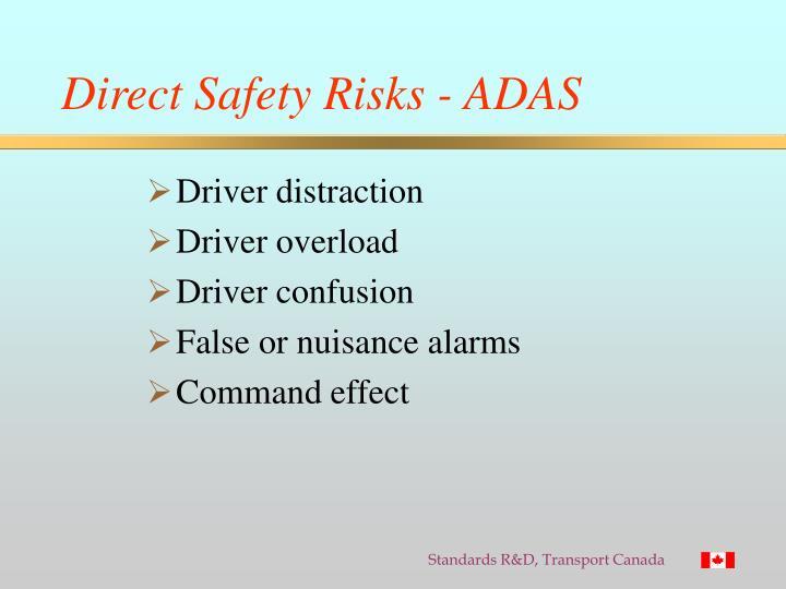 Direct Safety Risks - ADAS