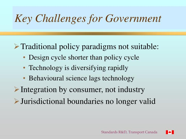 Key Challenges for Government