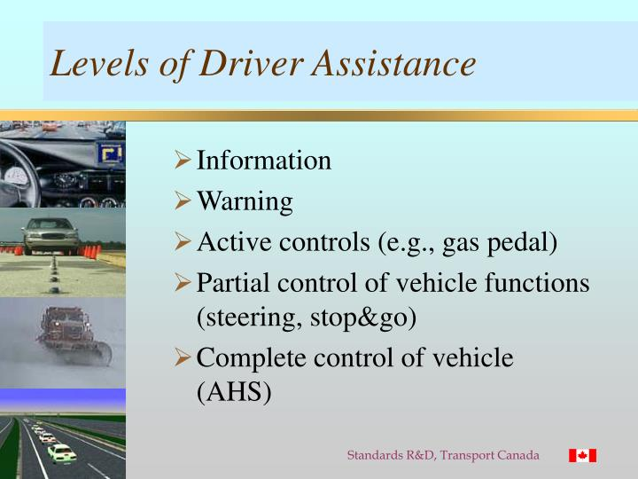Levels of Driver Assistance