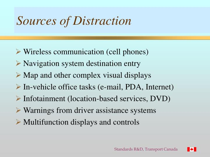 Sources of Distraction