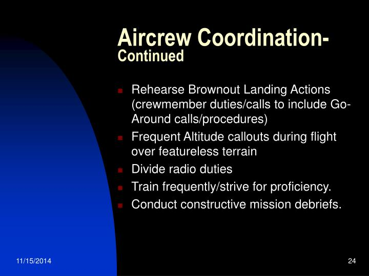 Aircrew Coordination-