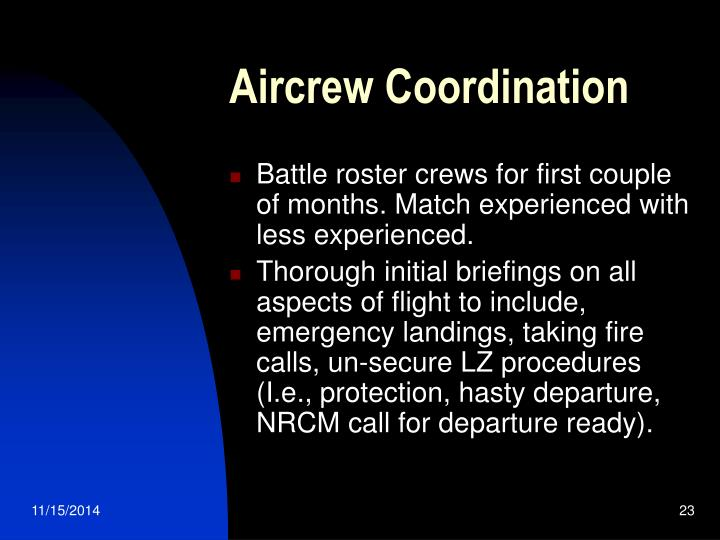 Aircrew Coordination