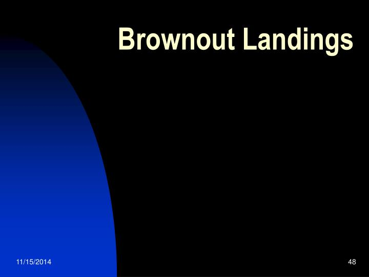 Brownout Landings