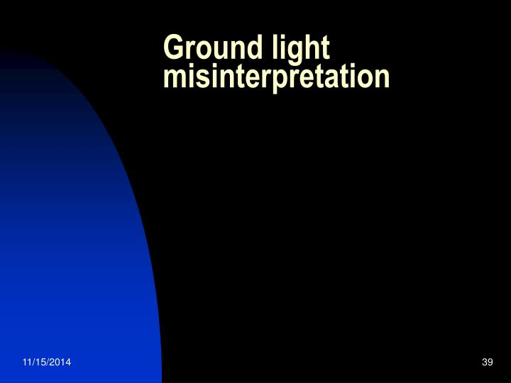 Ground light misinterpretation