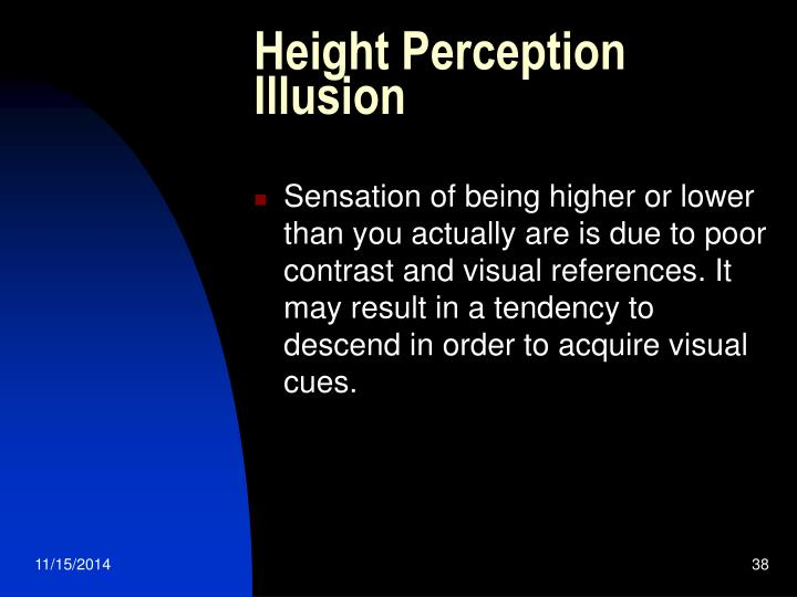 Height Perception Illusion