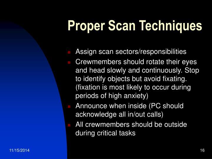 Proper Scan Techniques