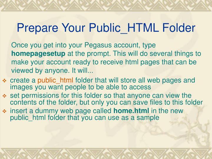 Prepare Your Public_HTML Folder