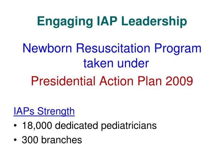 Engaging IAP Leadership