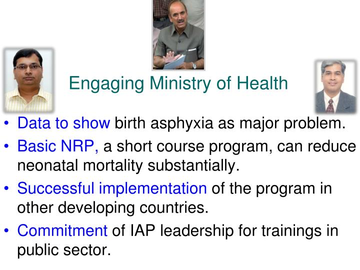 Engaging Ministry of Health