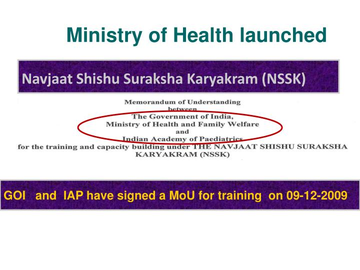 Ministry of Health launched