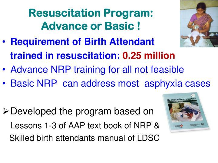 Resuscitation Program: