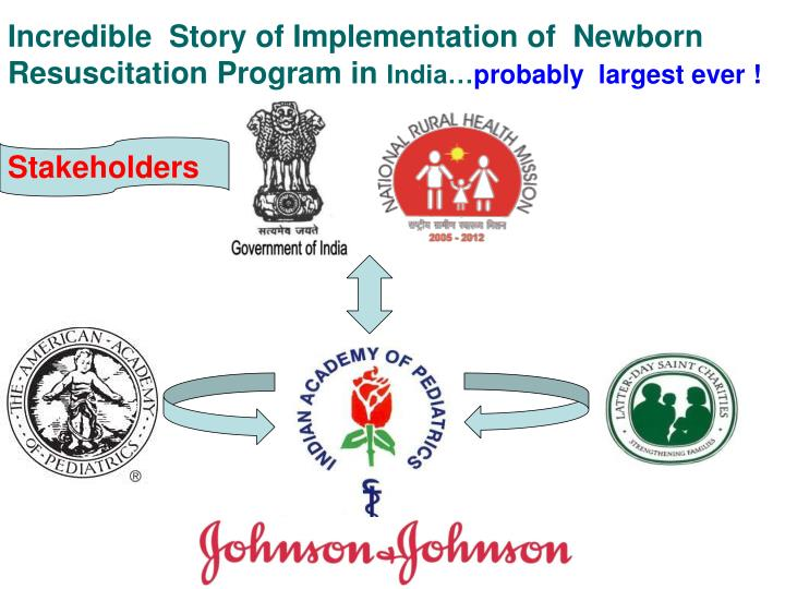 Incredible  Story of Implementation of  Newborn Resuscitation Program in