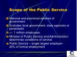 scope of the public service