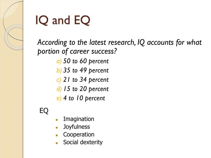IQ and EQ