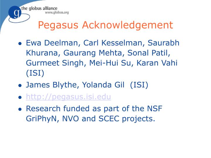 Pegasus Acknowledgement