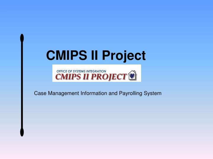 CMIPS II Project