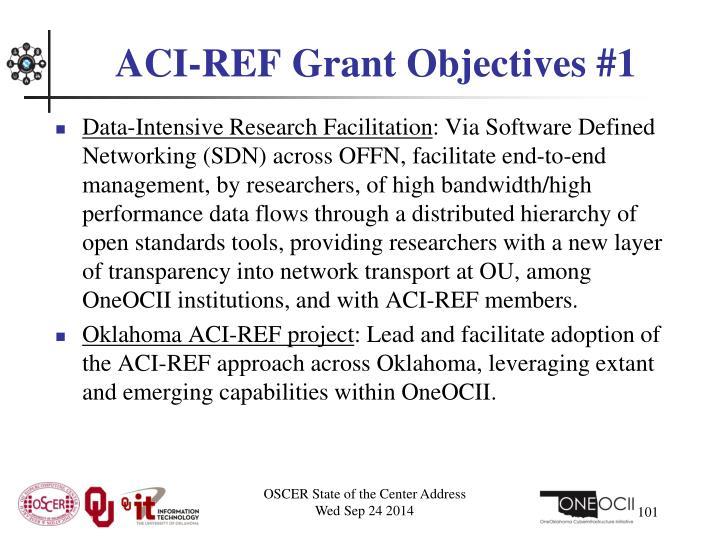 ACI-REF Grant Objectives #1