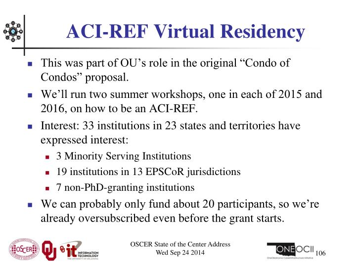 ACI-REF Virtual Residency