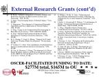 external research grants cont d