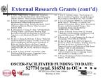 external research grants cont d10