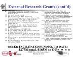 external research grants cont d11