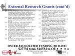 external research grants cont d12