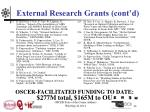external research grants cont d14