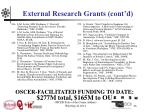 external research grants cont d16