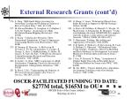 external research grants cont d18