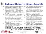 external research grants cont d6