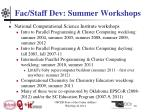 fac staff dev summer workshops