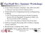 fac staff dev summer workshops1