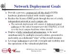 network deployment goals