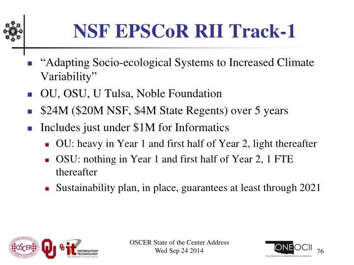 NSF EPSCoR RII Track-1