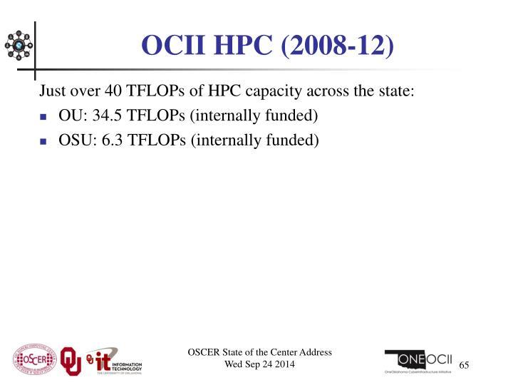 OCII HPC (2008-12)