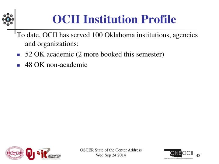 OCII Institution Profile