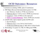 ocii outcomes resources