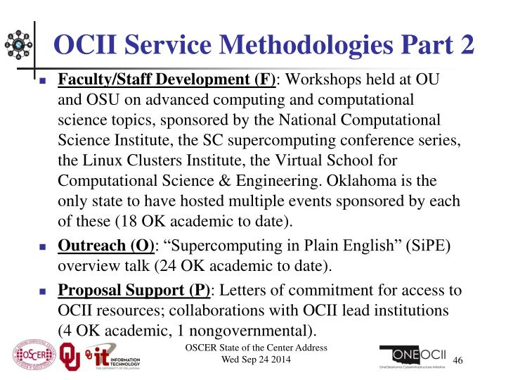 OCII Service Methodologies Part 2