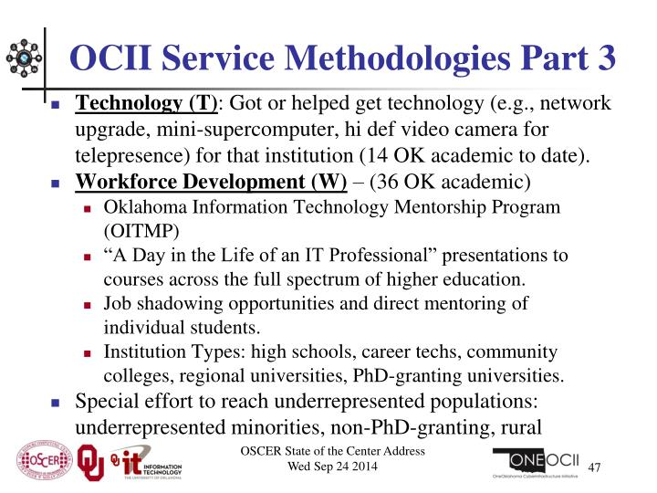 OCII Service Methodologies Part 3