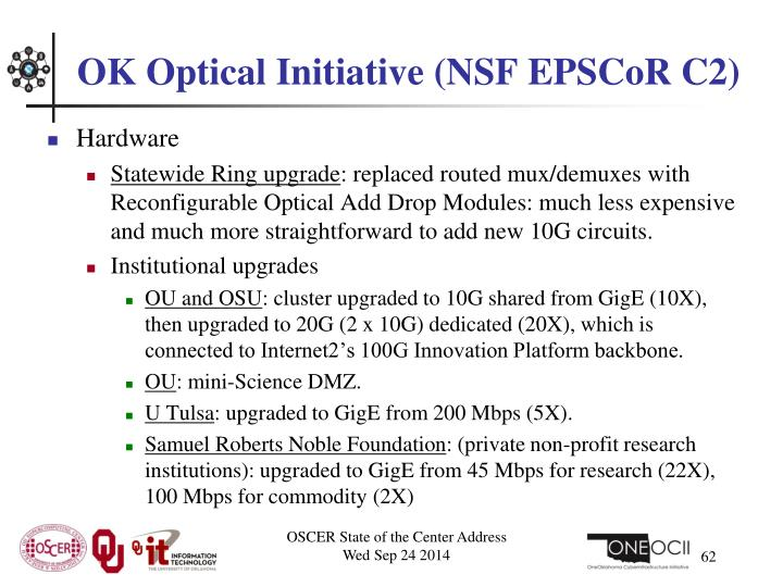 OK Optical Initiative (NSF