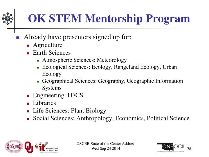 OK STEM Mentorship Program