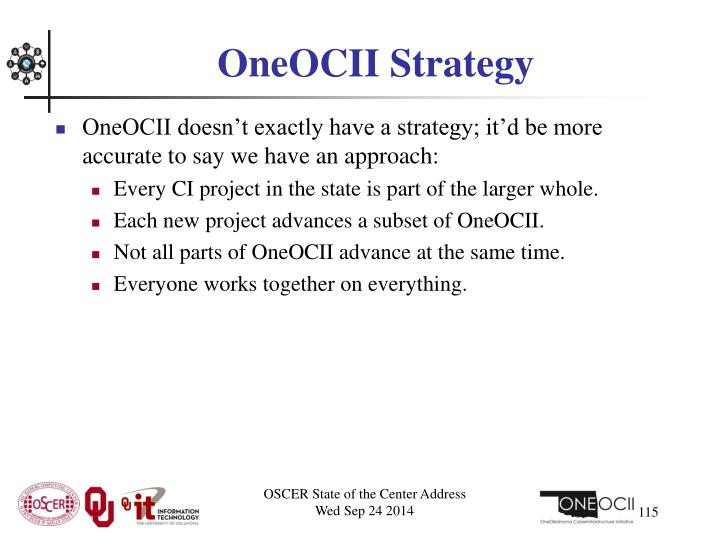 OneOCII Strategy