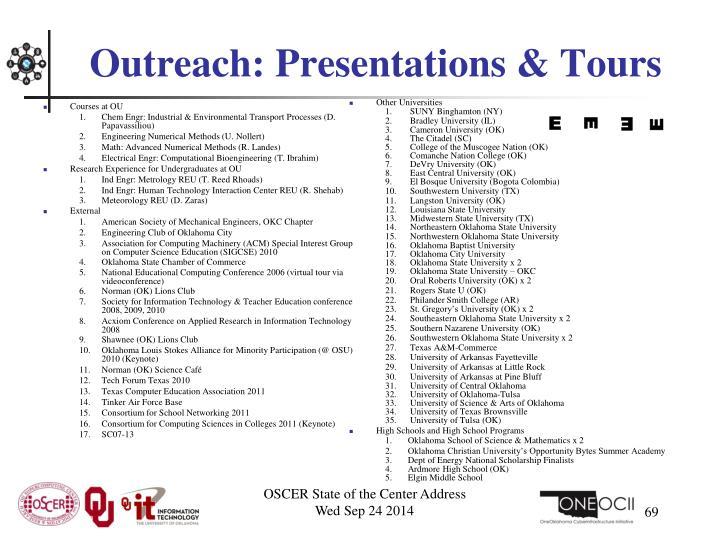Courses at OU