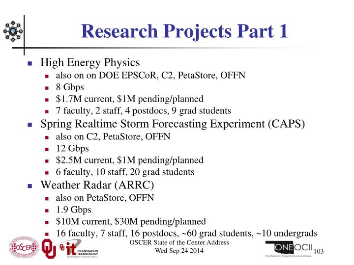 Research Projects Part 1