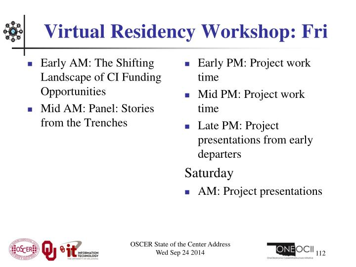 Virtual Residency Workshop: